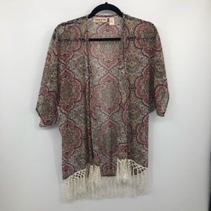 Band of Gypsies Lottie & Hollie Kimono S Fringe